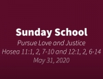 Sunday School May 31, 2020